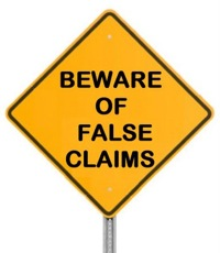 Beware of false claims