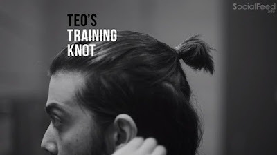 This is how Teo ties his hair before playing football Vamos