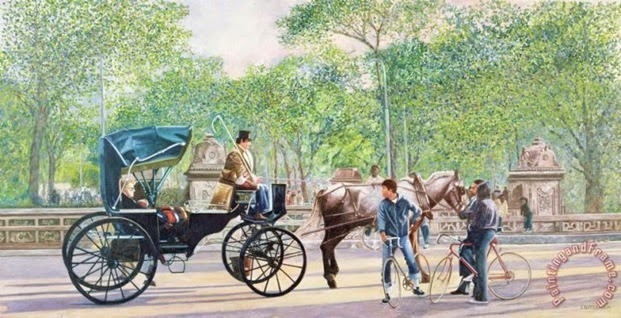 Horse And Carriage Painting by Anthony Butera; Horse And Carriage Art Print for sale