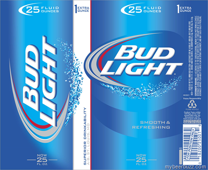 Anheuser-Busch Launches New 25oz Cans for Budweiser, Bud