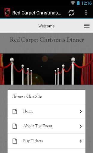 Red Carpet Christmas Dinner