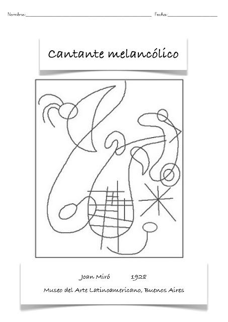 Dibujos Para Imprimir Y Colorear Colorear Miró Cantante Melancólico