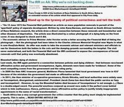 BEEblackRacistHiringLawsLinkedToBabyDeathsByIRRfransCronjeJune2014articlePoliticsWeb