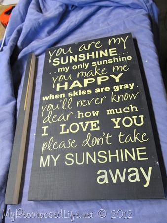 You Are My Sunshine (sign) (3)