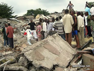 Maisons démolies à Kinshasa (archives)