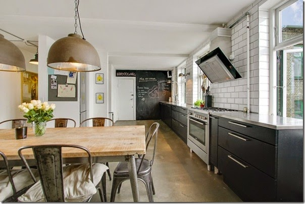 case e interni - loft - stile scandinavo - industriale (7)