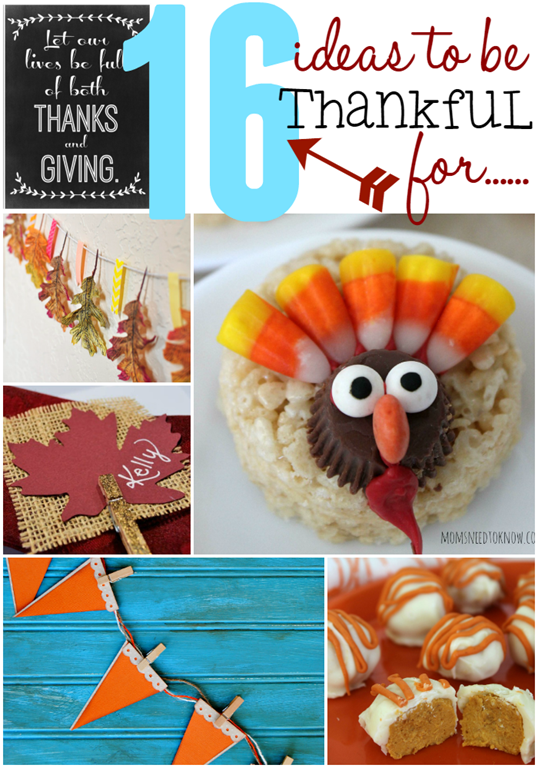 16 Ideas to Be Thankful For #Thanksgiving #linkparty #features at GingerSnapCrafts.com
