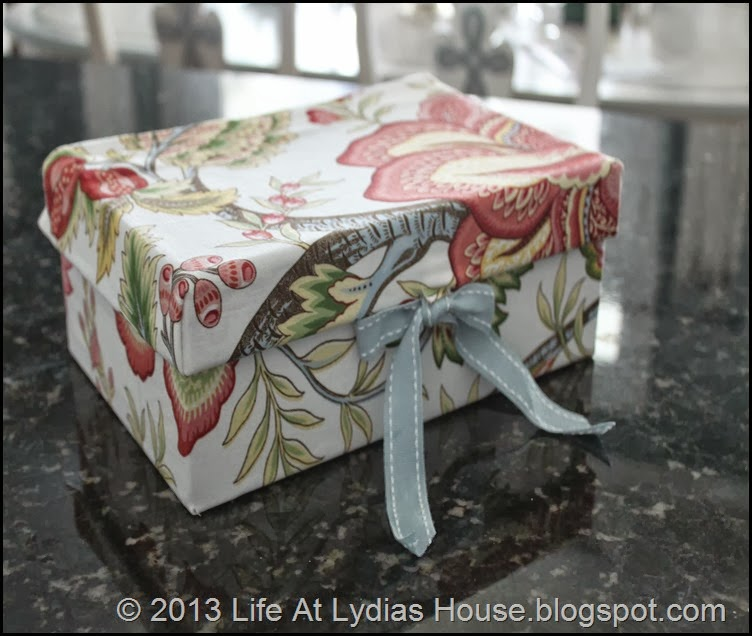 fabric covered shoe box