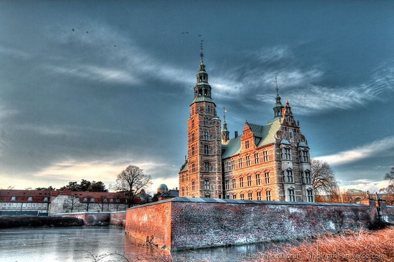Rosenburg Castle Copenhagen at sunset