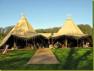 Magical camping wedding tent