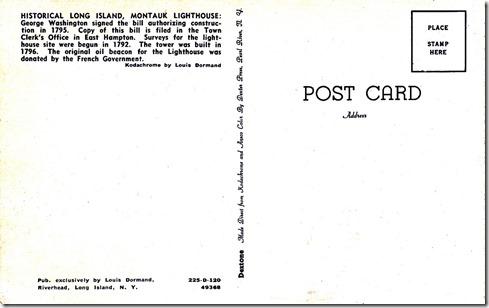 Montauk Lighthouse - Historical Long Island pg. 2