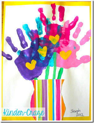 Mother's Day Forever Handprint Bouquet from Kinder-craze