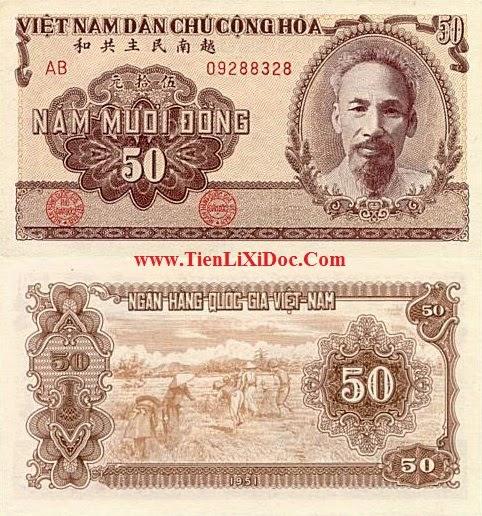 50 Đồng Việt Nam Dân Chủ 1951(Nâu)