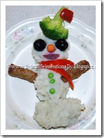 Mashed Potato Snowman Dinner