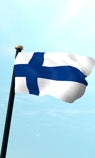 芬兰旗3D动态壁纸