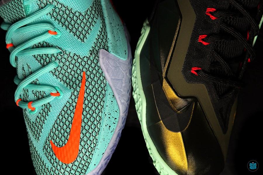 best service 5d9d1 0f53d Nike LeBron 11 8220King8217s Pride8221 vs Nike LeBron 12 8220NSRL8221 ...