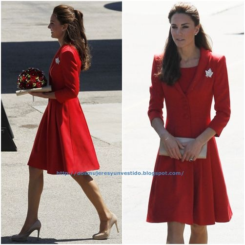 Kate Middleton at Calgary International Airport