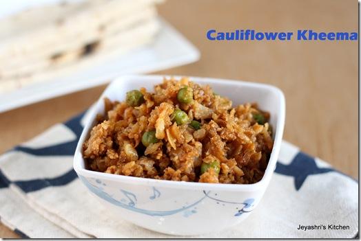 Cauliflower-kheema