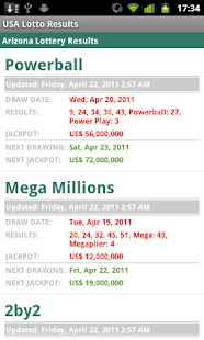 USA Lotto Results - screenshot thumbnail