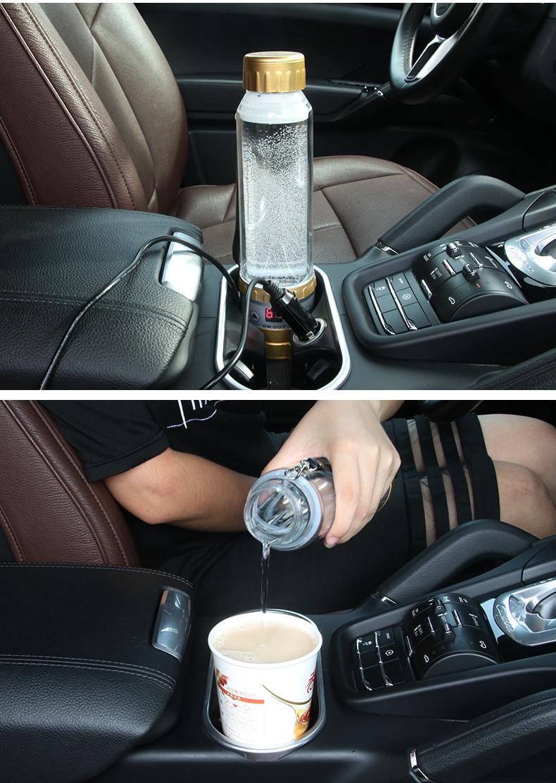 cốc đun sôi trên ô tô
