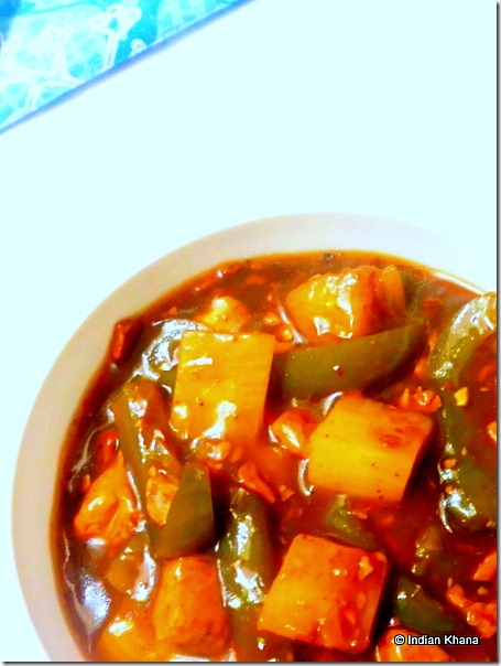 Easy Pineapple Tofu Vegetrian manchurian recipe