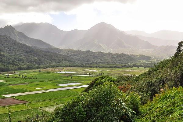 可愛島北岸 Hanalei 山區風景