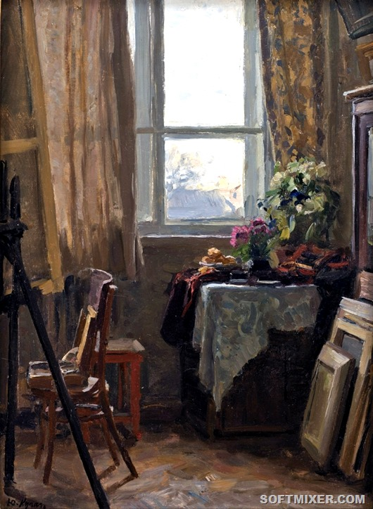 Yuri Kugach - Interior of Dacha 1974