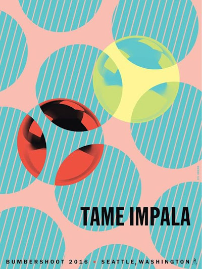 Tame Impala play Bumbershoot this Sunday Official poster by Kii Arens available