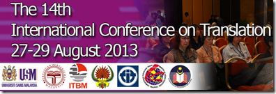 14th-International COnference on Translation - August 2013