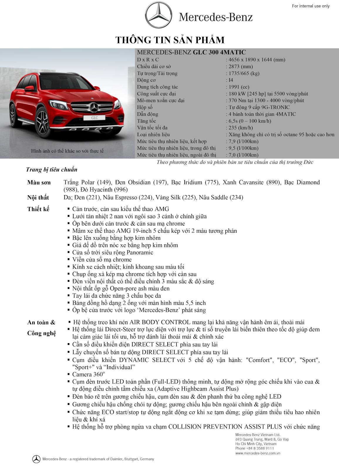 Thông số kỹ thuật xe Mercedes GLC 300 AMG 01