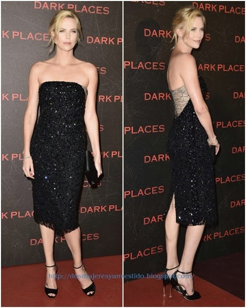 Charlize Theron Dark Places Paris Premiere