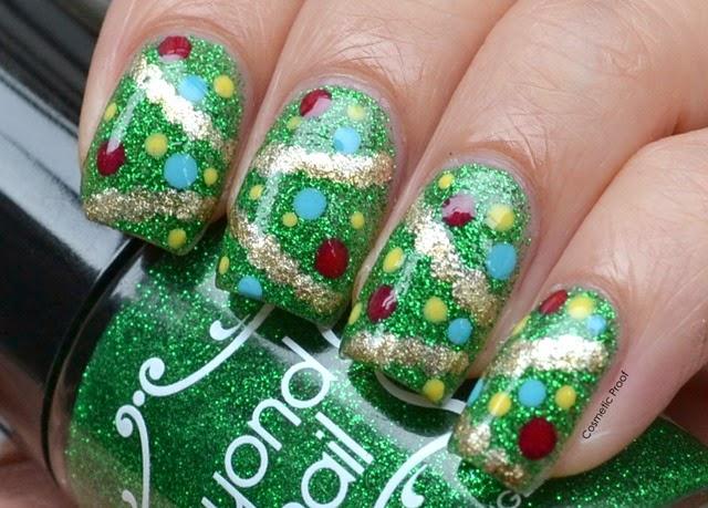 3d Nail Art Christmas Trees From: 'O Christmas Tree, 'O Christmas Tree