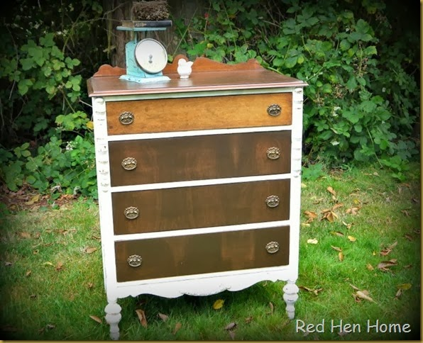 Red Hen Home White & Wood Dresser 4
