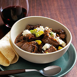 Slow-Braised Red Chile Beef.