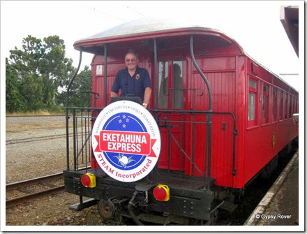 Yours truly aboard the Eketahuna Express.