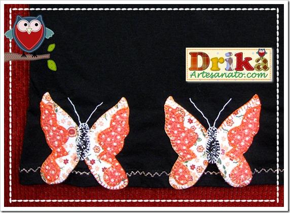 Borboletas em Patch Aplique Drika Artesanato Detalhes