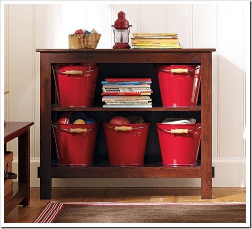 Toy storage buckets