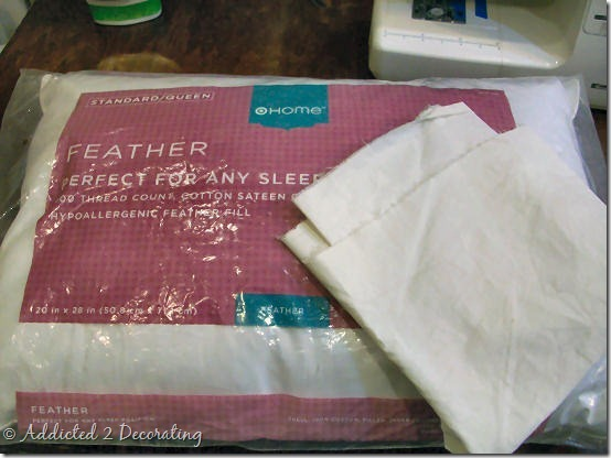 make your own custom feather pillow inserts and save lots of money Make Your Own Pillow