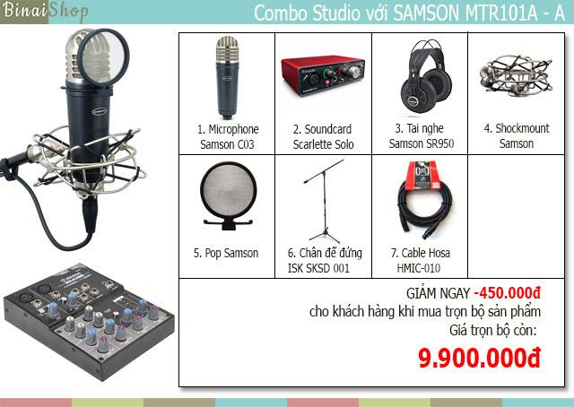 micro phòng thu âm Samson MTR101A