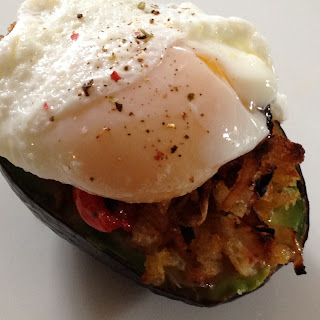 Stuffed Avocado With Poached Egg.