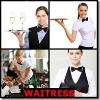 WAITRESS- 4 Pics 1 Word Answers 3 Letters