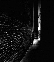 Bill Brandt - Policeman in a Dockland Alley - 1938