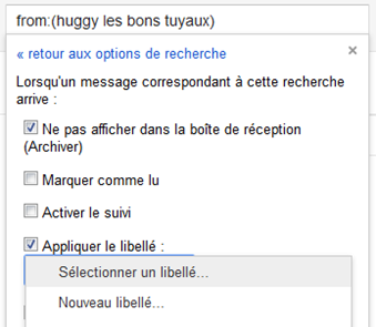 filtre gmail