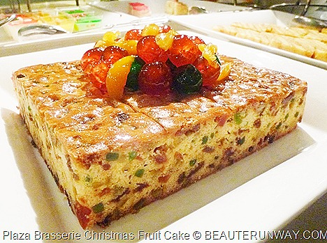 Plaza Brasserie Christmas Fruit Cake, Christmas Puddings with Brandy sauce, Assorted Christmas Cookies, Ginger Bread,  Assorted Log Cakes, Raspberry and Vanilla Cheese Cake