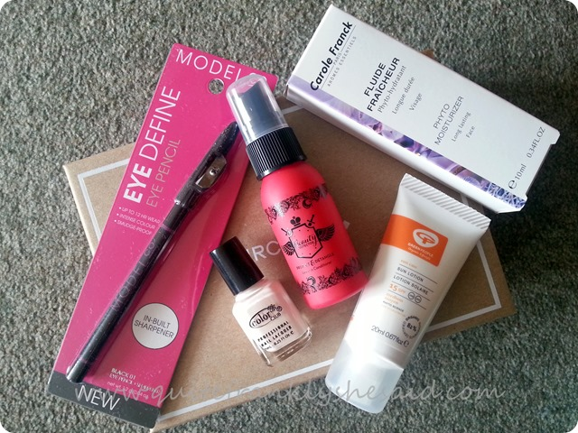 June Birchbox beauty box  review cotents