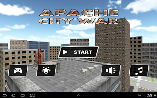 Gunship Helicopter city War 3D