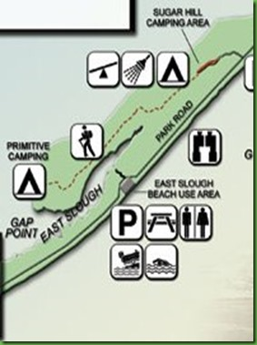 map with campground