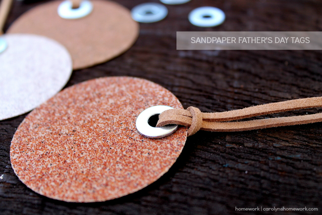 Sandpaper Father's Day Tags created by homework | carolynshomework.com