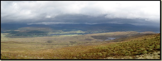 The view down to Loch Rannoch from near the summit of Leagag - 601 metres