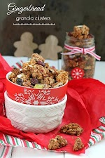 Gingerbread Granola Clusters - Start your morning off with all the flavors of classic gingerbread in a spiced and flavorful granola with big crunchy clusters @LifeMadeSweeter.jpg